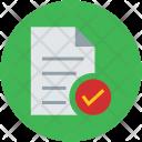 Document Verified Checkmark Icon