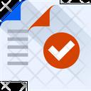 Document Verify Verify Approve Icon