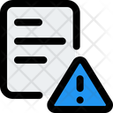 Document Warning File Warning Document Icon