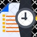 Documentation Time Document Time Task Deadline Icon