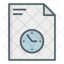 Timetable File Document Icon