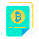Bitcoin Document Paper Bitcoin Certificate Icon