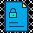 Lock Document Lock File Secure File Icon