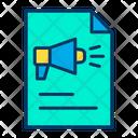 Documents Marketing File Advertising Document Icon