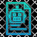 Documents Robot Scientific Document Icon