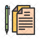Documents Pen Notes Icon