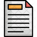 Documents Notes Sheet Icon