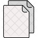 Multiple Blank Documents Icon