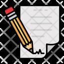 Documents Paper Pencil Icon