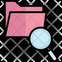 Documents Find Folder Folder Magnifying Icon