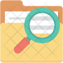 Documents Folder Magnifying Icon