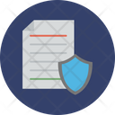 Documents Approved Shield Letter Icon