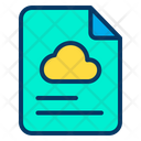 Cloud Data Documents Icon