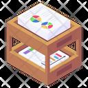 Business Documents Data Analytics Documents Rack Icon