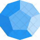 Dodecahedron Shapes Icon