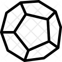 Dodecahedron polyhedron Icon