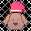 Dog Christmas Hat Christmas Cap Icon