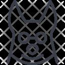 Dog Animal Hipster Icon