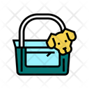 Dog Carriage Bag Icon