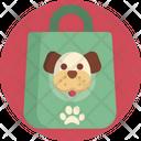 Dog Paws Shopping Bag Icon