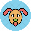 Dog Cur Face Icon