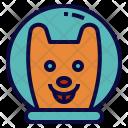 Dog Astronaut Icon