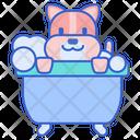 Idog Bath Dog Bath Dog Bathing Icon
