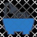 Dog Bath Tub Icon