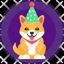 Dog Cap Dog Birthday Pet Birthday Icon
