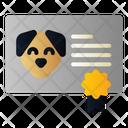 Certificate Vaccine Animal Icon