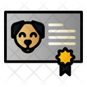 Dog Certificate Icon