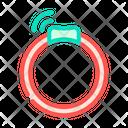Collar Gps Tracker Icon