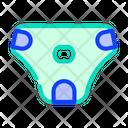 Diaper Dog Color Icon