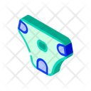 Diaper Dog Isometric Icon