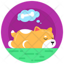 Sleepy Dog Dog Dreaming Dog Thought Icon