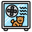 Pet Dog Dryer Icon
