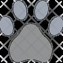 Dog Footprint Trace Icon