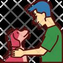 Dog Friend Pet Human Friend Icon