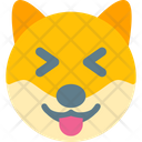 Dog Grinning Squinting Icon