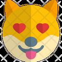 Dog Heart Eyes Icon
