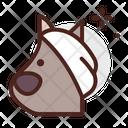 Dog Injury On Face Icon