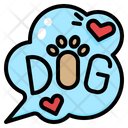 Dog Lettering Icon
