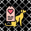 Dog Love Label Icon