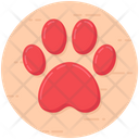 Dog Paw Vector Icon