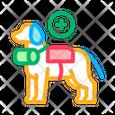 Rescue Dog Rescuer Icon