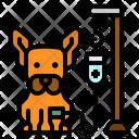 Veterinary Dog Saline Icon