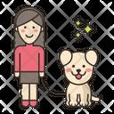 Dog Sitter Female Icon