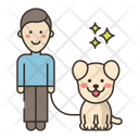 Dog Sitter Male Icon