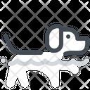 Dog swimming Icon