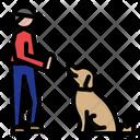 Dog Training Dog School Sit Command Pet Training Obedience Pet Cat Icon